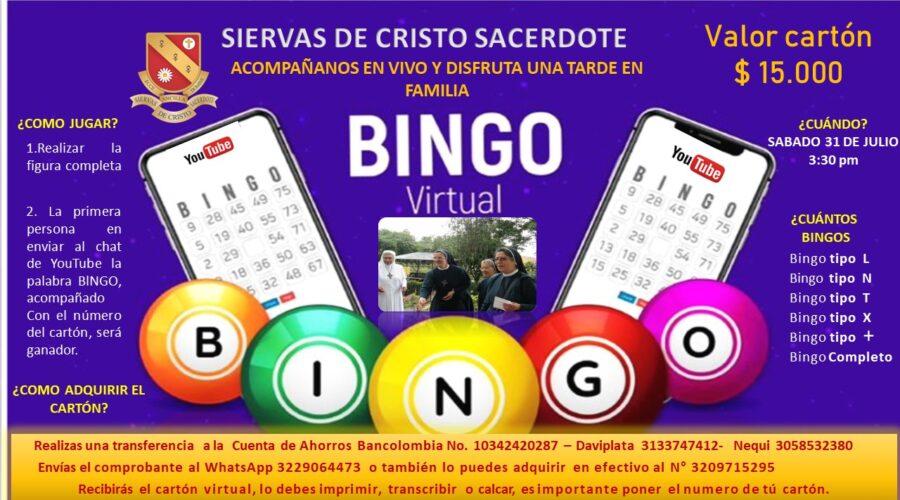 Gran bingo virtual – 31 de Julio
